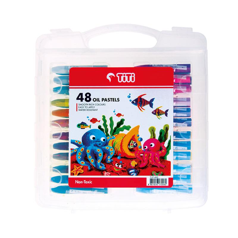 پاستل 48 رنگ همراه با ابزار