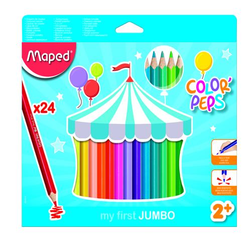 مداد رنگی جامبو 24 رنگ مقوایی