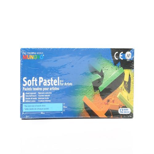 پاستل گچی 12 رنگ  از سریMP12-Mp-Soft Pastel