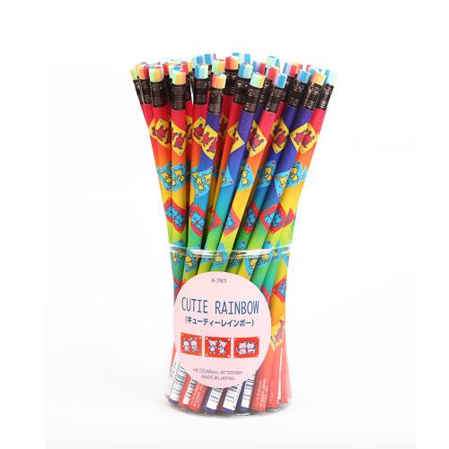 مداد پاک کن گرد هفت رنگ عروسکی