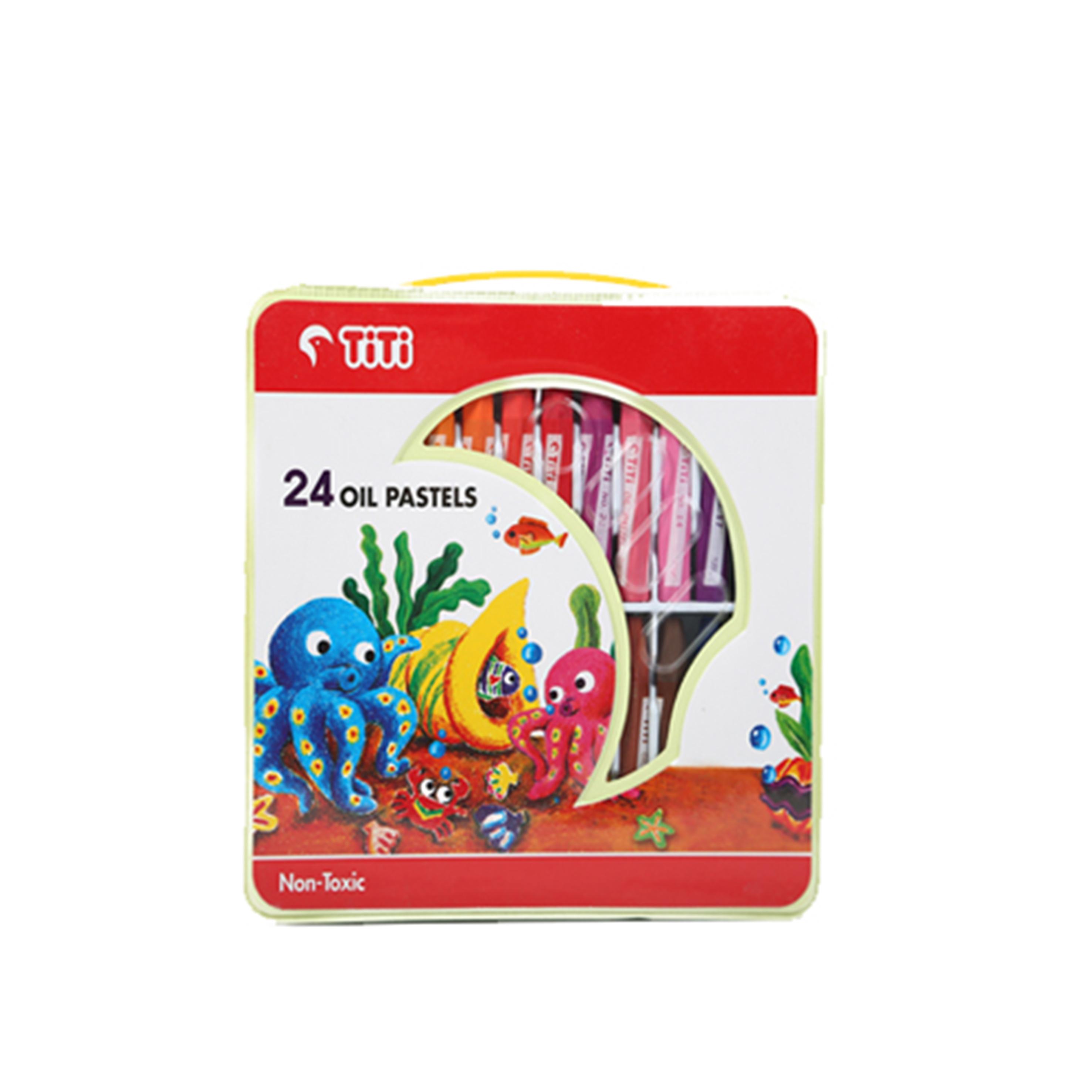 پاستل روغنی 24 رنگ کیفی