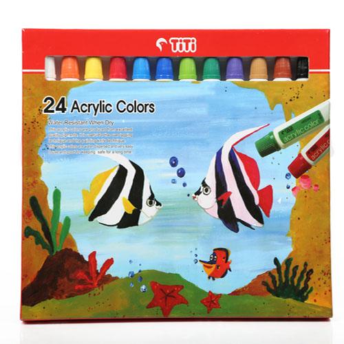 رنگ اکریلیک 24 رنگ