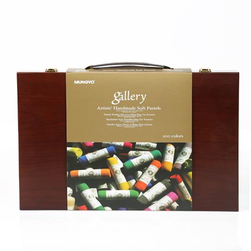 پاستل گچی 200رنگ جعبه چوبی  از سری - Hand Made MPHM200
