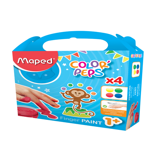 رنگ انگشتی کالرپپس4 رنگ 80 گرمی